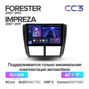 Штатная автомагнитола на Android TEYES CC3 для Subaru Forester 3 SH 2007-2013