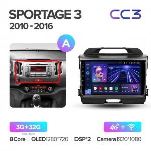 Штатная автомагнитола на Android TEYES CC3 для Kia Sportage 3 SL 2010-2016 (Версия А)