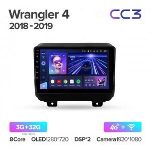 Штатная автомагнитола на Android TEYES CC3 для Jeep Wrangler 4 JL 2018-2019
