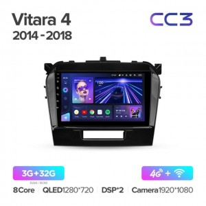 Штатная автомагнитола на Android TEYES CC3 для Suzuki Vitara 4 2014-2018