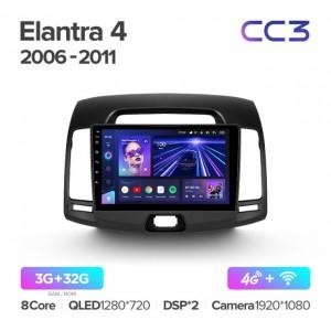 Штатная автомагнитола на Android TEYES CC3 для Hyundai Elantra 4 HD 2006-2012