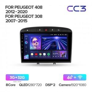 Штатная автомагнитола на Android TEYES CC3 для Peugeot 408 1 2012-2020