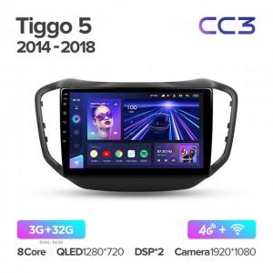 Штатная автомагнитола на Android TEYES CC3 для Chery Tiggo 5 2014-2020