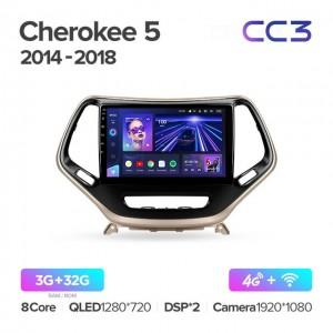 Штатная автомагнитола на Android TEYES CC3 для Jeep Cherokee 5 KL 2014-2018