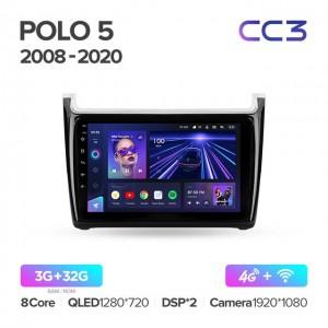 Штатная автомагнитола на Android TEYES CC3 для Volkswagen POLO 5 2008-2020