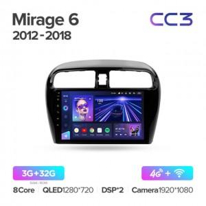 Штатная автомагнитола на Android TEYES CC3 для Mitsubishi Mirage 6 2012-2018
