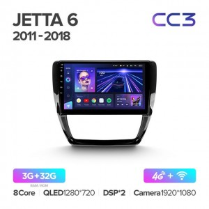 Штатная автомагнитола на Android TEYES CC3 для Volkswagen Jetta 6 2011-2018