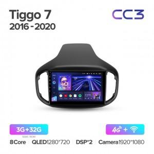 Штатная автомагнитола на Android TEYES CC3 для Chery Tiggo 7 1 2016-2020