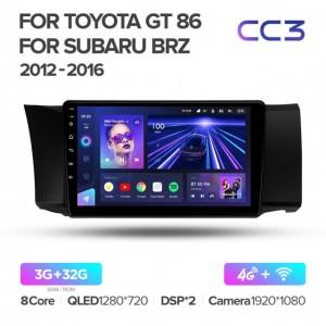 Штатная автомагнитола на Android TEYES CC3 для Subaru BRZ 2012-2016