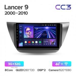 Штатная автомагнитола на Android TEYES CC3 для Mitsubishi Lancer 9 CS 2000-2010