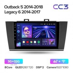 Штатная автомагнитола на Android TEYES CC3 для Subaru Outback 5 2014-2018