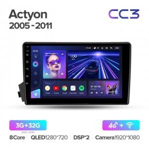 Штатная автомагнитола на Android TEYES CC3 для SsangYong Actyon C100 2005-2011
