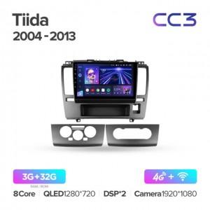 Штатная автомагнитола на Android TEYES CC3 для Nissan Tiida C11 2004-2013