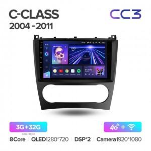 Штатная автомагнитола на Android TEYES CC3 для Mercedes-Benz C-Class C Class W203, W209, C180, C200, CL203, C209, A209