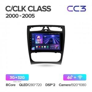 Штатная автомагнитола на Android TEYES CC3 для Mercedes-Benz C-Class, CLK-Class S203, W203, W209, A209 2000-2005