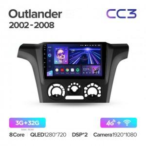 Штатная автомагнитола на Android TEYES CC3 для Mitsubishi Outlander 1 2002-2008
