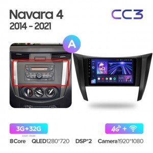 Штатная автомагнитола на Android TEYES CC3 для Nissan Navara D23 IV 4 2014-2021 (Версия А)