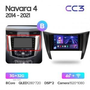 Штатная автомагнитола на Android TEYES CC3 для Nissan Navara D23 IV 4 2014-2021 (Версия B)