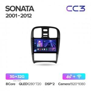 Штатная автомагнитола на Android TEYES CC3 для Hyundai Sonata EF рестайлинг 2001-2012