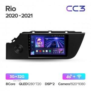Штатная автомагнитола на Android TEYES CC3 для Kia Rio 4 IV FB 2020-2021