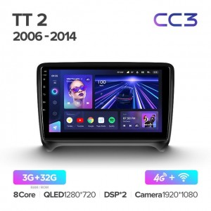 Штатная автомагнитола на Android TEYES CC3 для Audi TT 2 8J 2006-2014