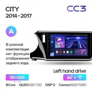 Штатная автомагнитола на Android TEYES CC3 для Honda City 2014-2017 (Версия А)