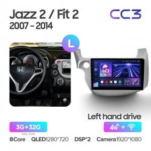 Штатная автомагнитола на Android TEYES CC3 для Honda Jazz 2 GG 2008-2014