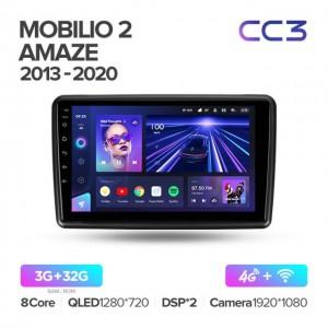 Штатная автомагнитола на Android TEYES CC3 для Honda Mobilio 2 Amaze 2013-2020