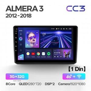 Штатная автомагнитола на Android TEYES CC3 для Nissan Almera 3 G15 2012-2018