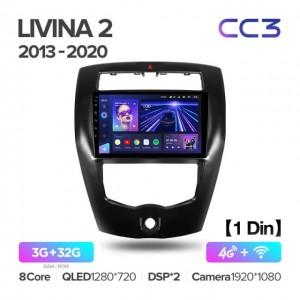 Штатная автомагнитола на Android TEYES CC3 для Nissan Livina 2 2013-2020