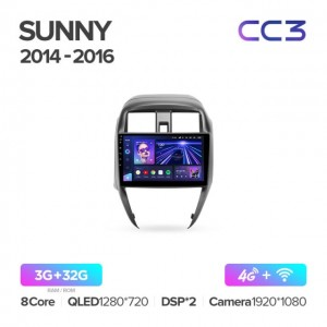 Штатная автомагнитола на Android TEYES CC3 для Nissan Sunny 2014-2016