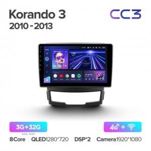 Штатная автомагнитола на Android TEYES CC3 для SsangYong Korando 3 Actyon 2 2010-2013