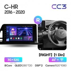 Штатная автомагнитола на Android TEYES CC3 для Toyota C-HR 2016-2020 (Правый руль)