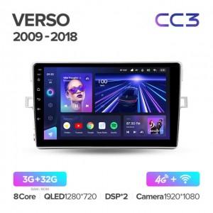Штатная автомагнитола на Android TEYES CC3 для Toyota Verso R20 2009-2018