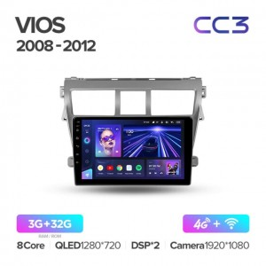 Штатная автомагнитола на Android TEYES CC3 для Toyota Vios 2 2007-2013