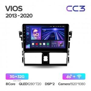 Штатная автомагнитола на Android TEYES CC3 для Toyota Vios XP150 2013-2020