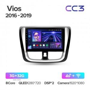 Штатная автомагнитола на Android TEYES CC3 для Toyota Vios Yaris L 2016-2019