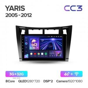 Штатная автомагнитола на Android TEYES CC3 для Toyota Yaris XP90 2005-2012