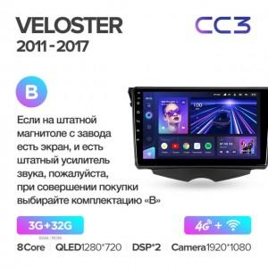 Штатная автомагнитола на Android TEYES CC3 для Hyundai Veloster FS 2011-2017 (Версия B)