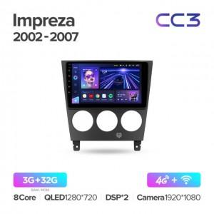 Штатная автомагнитола на Android TEYES CC3 для Subaru Impreza GD GG 2002-2007