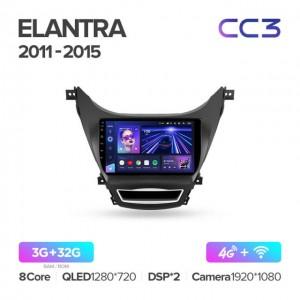Штатная автомагнитола на Android TEYES CC3 для Hyundai Elantra 5 JK GD MD UD 2010-2016