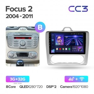 Штатная автомагнитола на Android TEYES CC3 для Ford Focus 2 Mk 2 2004-2011 (auto)