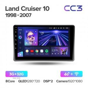 Штатная автомагнитола на Android TEYES CC3 для Toyota Land Cruiser 10 J100, 100 1998-2007