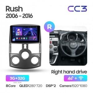 Штатная автомагнитола на Android TEYES CC3 для Toyota Rush J200 1 2006-2016 (Правый руль)
