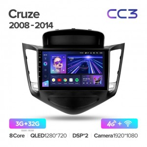 Штатная автомагнитола на Android TEYES CC3 для Chevrolet Cruze J300 2008-2014