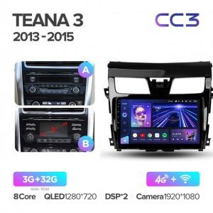Штатная автомагнитола на Android TEYES CC3 для Nissan Teana J33 2013-2015 (Версия А и В)