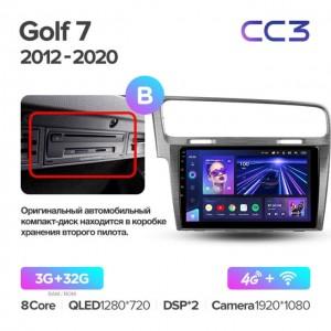Штатная автомагнитола на Android TEYES CC3 для Volkswagen Golf 7 2012-2020 (Версия B)