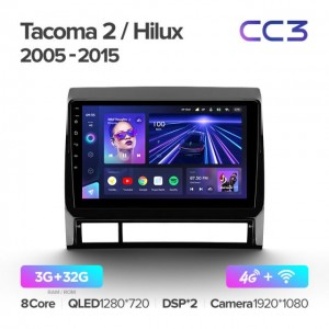 Штатная автомагнитола на Android TEYES CC3 для Toyota Tacoma 2 N200 Hilux 2005-2015