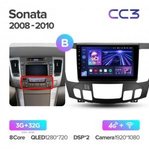 Штатная автомагнитола на Android TEYES CC3 для Hyundai Sonata NF 2008-2010 (Версия B)