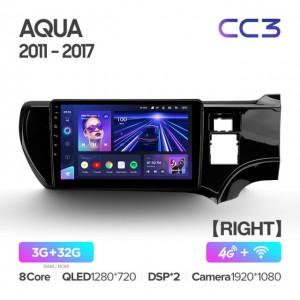 Штатная автомагнитола на Android TEYES CC3 для Toyota Aqua 2011-2017 (Правый руль)